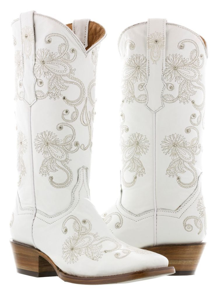 Womens I Do White Wedding Bridal Western Cowboy Cowgirl Boots Rhinestones Square Dresses With Cowboy Boots Cowgirl Boots White Cowboy Boots