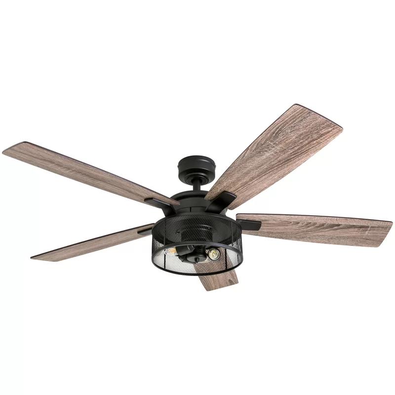 52 Divisadero 5 Blades Ceiling Fan Light Kit Included Ceiling Fan With Remote Ceiling Fan Fan Light Kits