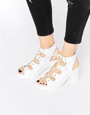 7de5c7e390cb ASOS TEMPT Lace Up Heeled Sandals Lace Up Heels