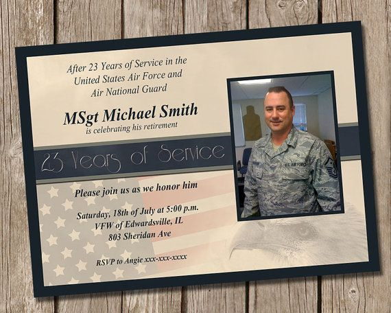 Military Retirement Party Invitation – Military Party Invitations