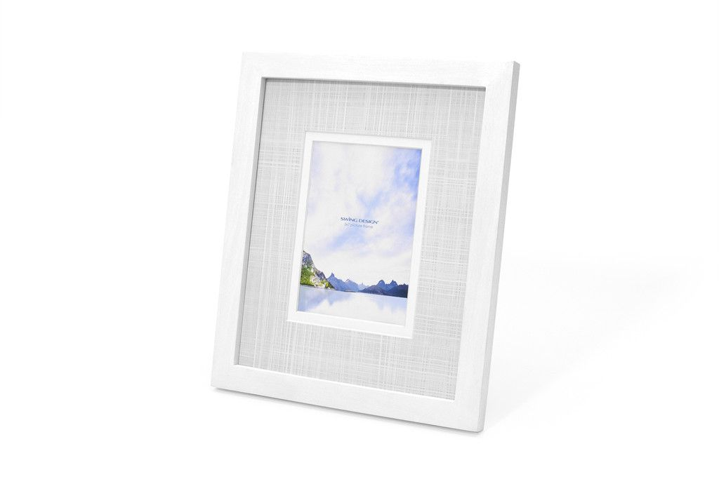 Carson Frame White 9x11 with 5x7 mat | Swing Design | Brooklyn ...