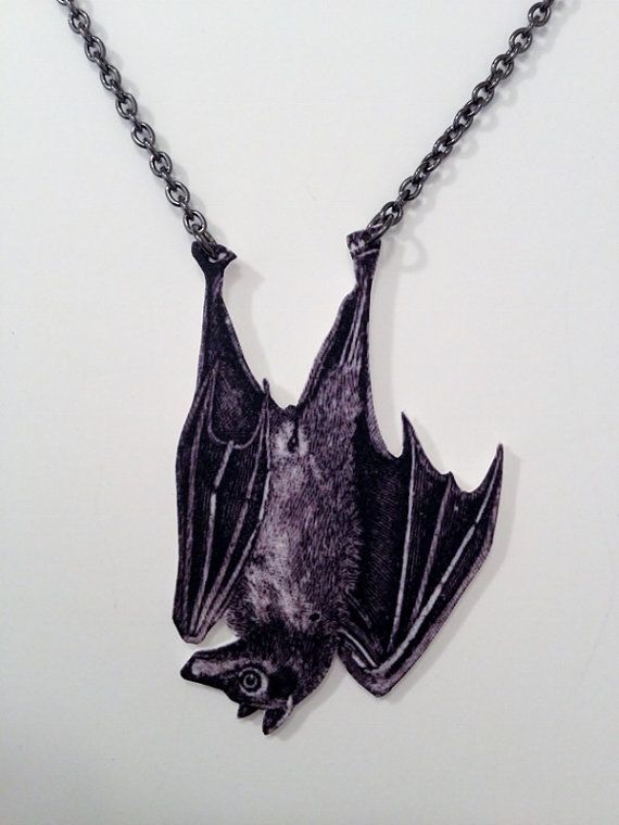pendant products vintage silver bat gothic necklace pewter unique