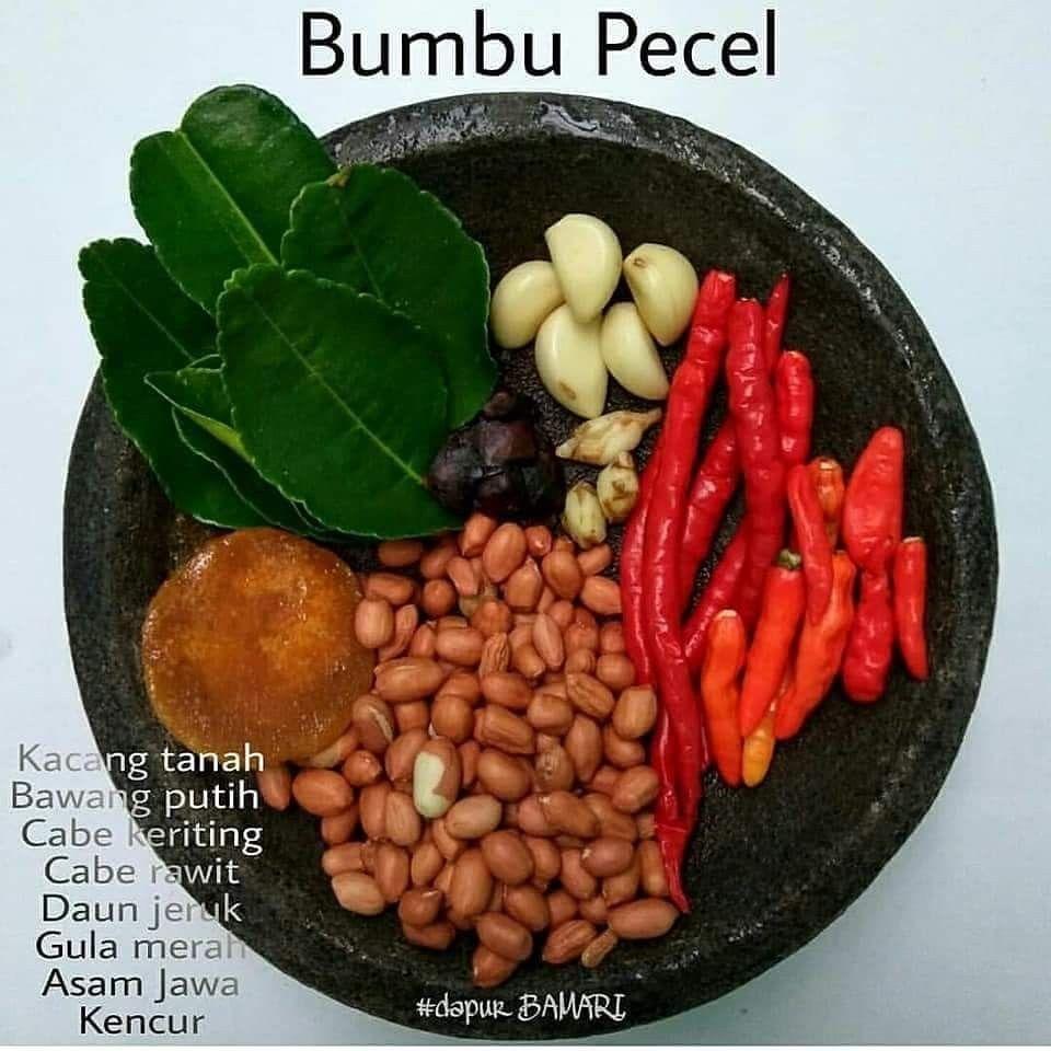 Bumbu Pecel Masakan Vegetarian Resep Makanan Sehat Resep Masakan