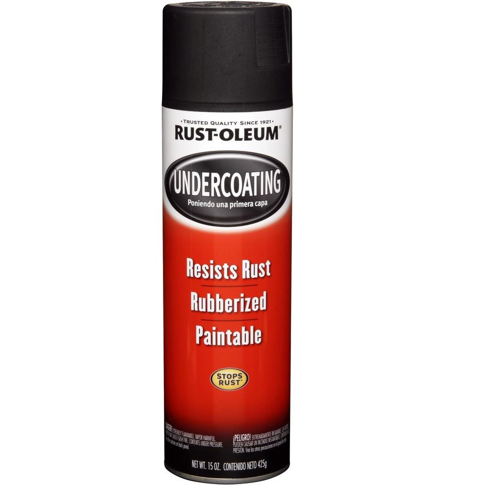 Rust Oleum Automotive 15 Oz Rubberized Undercoating Black Spray
