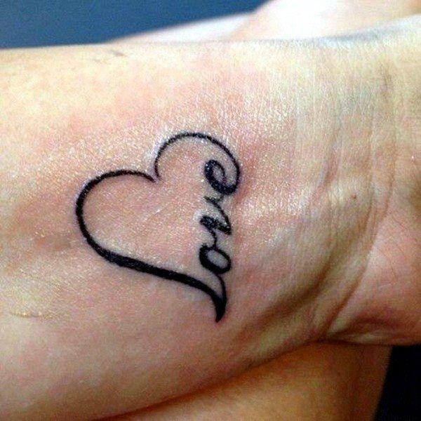 Heart Tattoos On Wrist Love Wrist Tattoo Tattoos Tattoo Designs For Girls