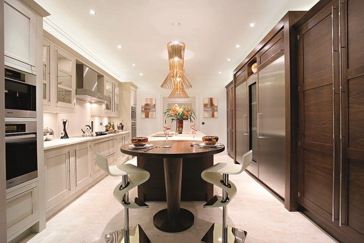 Perfect Dark Wood Modern Kitchen   Walnut Kitchen Cabinets   Bespoke Kitchen