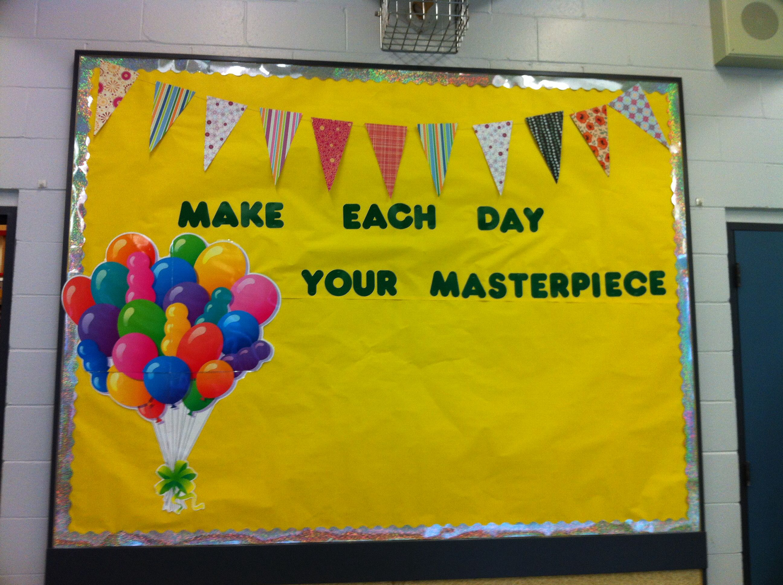 Bulletin board with a nice short quote | Bulletin board & wall ...