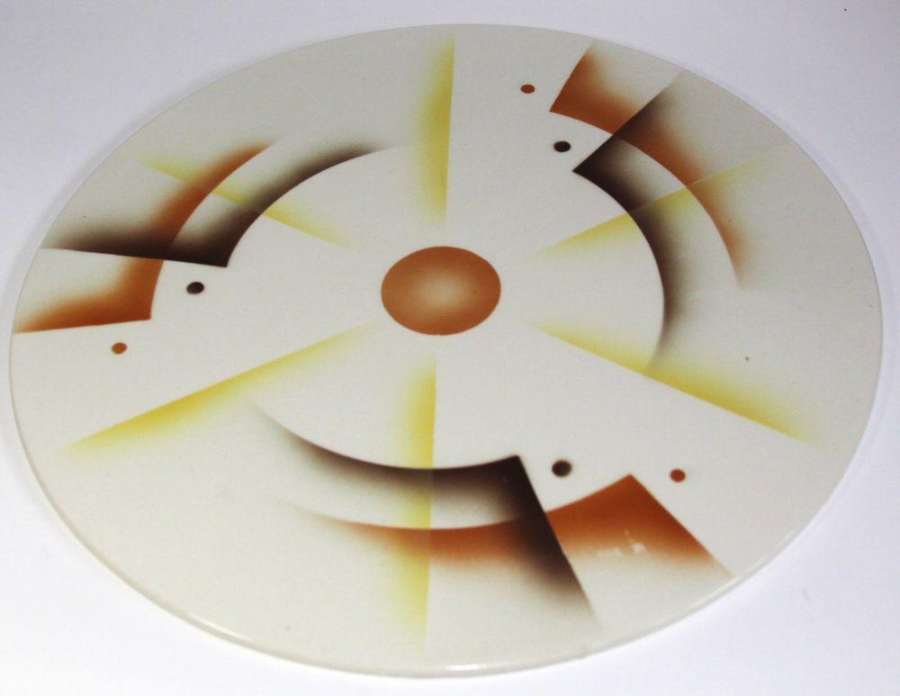 Bauhaus Design Art Deco German Spritzdekor Cake Plate Art Deco Pottery Art German Art