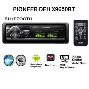 Pioneer Deh X9650bt Ok Head Unit Usb Radio Radio
