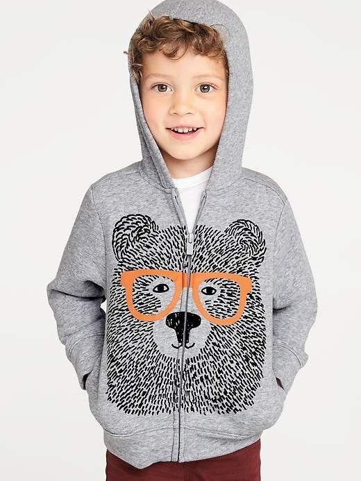 fc62f6507 Bear Graphic Zip Hoodie for Toddler Boys | Jason's Stitch fix | Zip ...