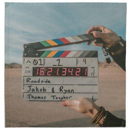 Movie Director Clap Film Cinema Camera Cloth Napkin  Kitchen