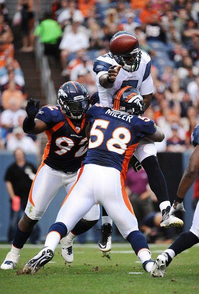 Von Miller Photos Photos Seattle Seahawks V Denver Broncos Denver Broncos Broncos Football Broncos Cheerleaders