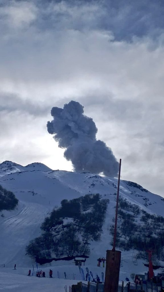 pulso vulcânico de cinzas em Nevados de Chillán, Chile