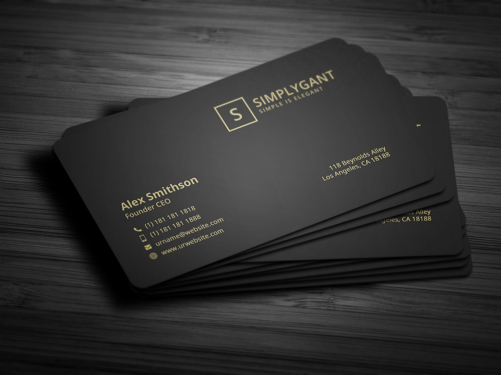 luxurious gold business card by galaxiya on creativemarket
