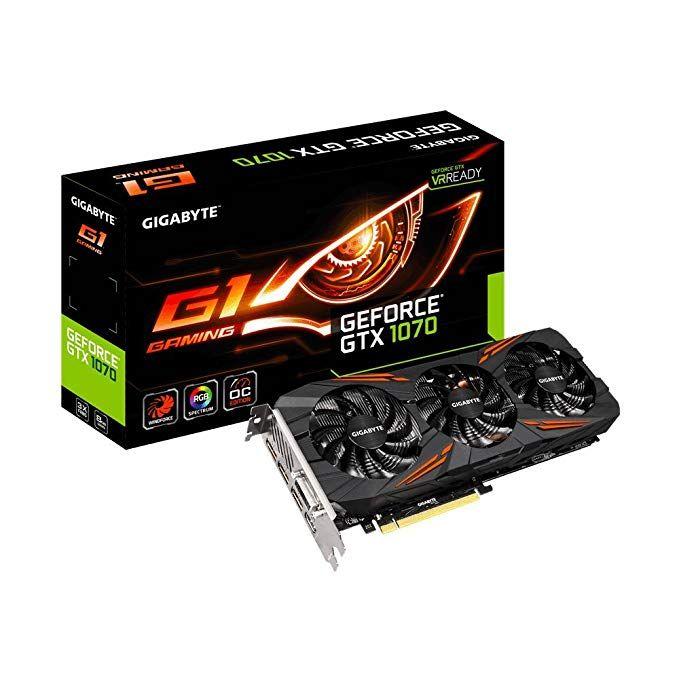 Gigabyte Geforce Gtx 1070 8gb Gddr5 256 Bit Hdmi Dvi 3xdp