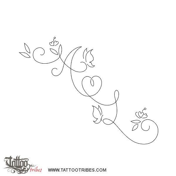 initials in swirls