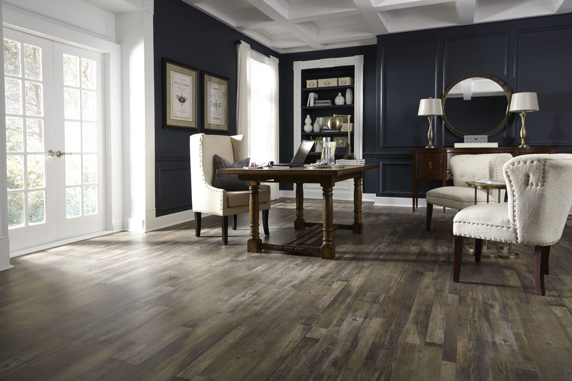 Urban loft ash waterproof engineered vinyl plank evp for Coreluxe flooring