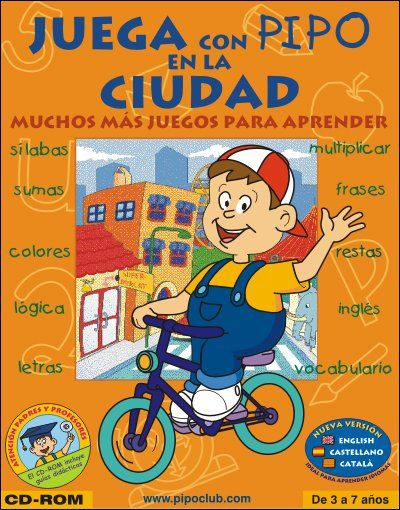 Portada De Juega Con Pipo En L A Ciudad Pipo Ciudad Escuela Educación Preescolar Infantil Juegos Para Aprender Aprender Silabas Juegos