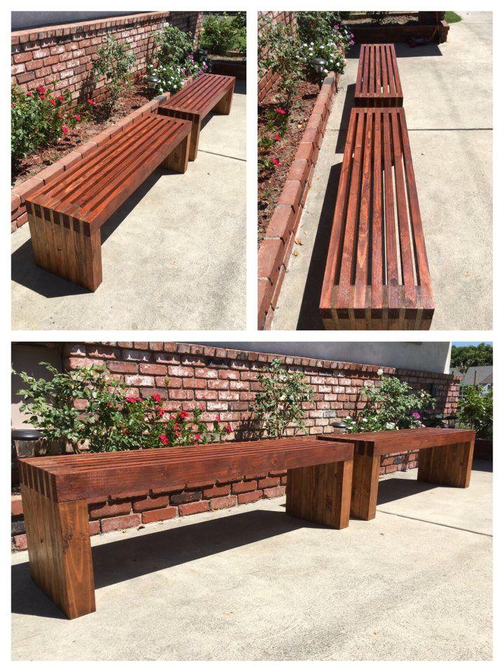 Diy Outdoor Bench Buena Park California Diy Bench Outdoor Diy Outdoor Outdoor Bench