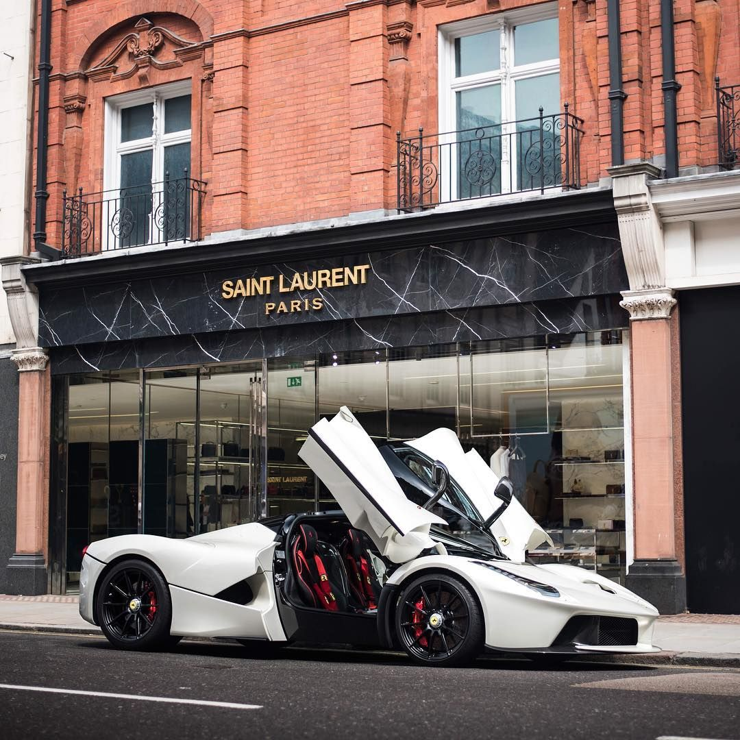Whats Your Perfect Spec Laferrari Is It This Beauty Or Something Different Pic By Joshua Efford White Ferrari Laferrari Holytrinit White Ferrari