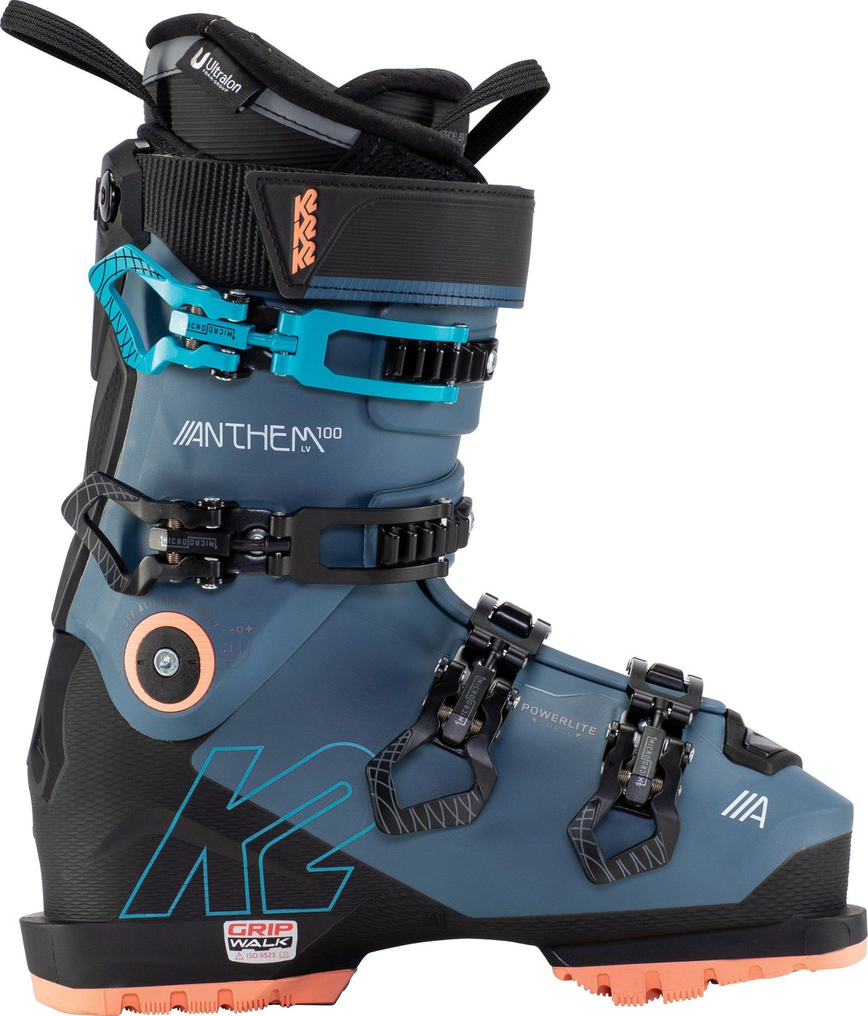 Built to deliver versatile  accommodating alpine performance  the women's K2 Anthem 100 LV ski boots have a precise  customizable fit without the bulky weight.