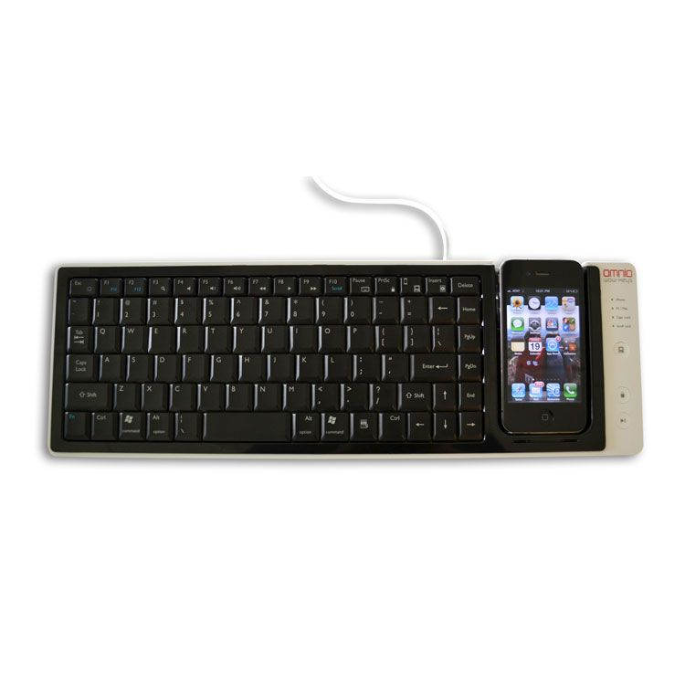 The WOW-keys keyboard is a full-sized QWERTY keyboard that allows you to input text into your iPhone from it's keys.It can also be used to input commands into your computer from your iPhone