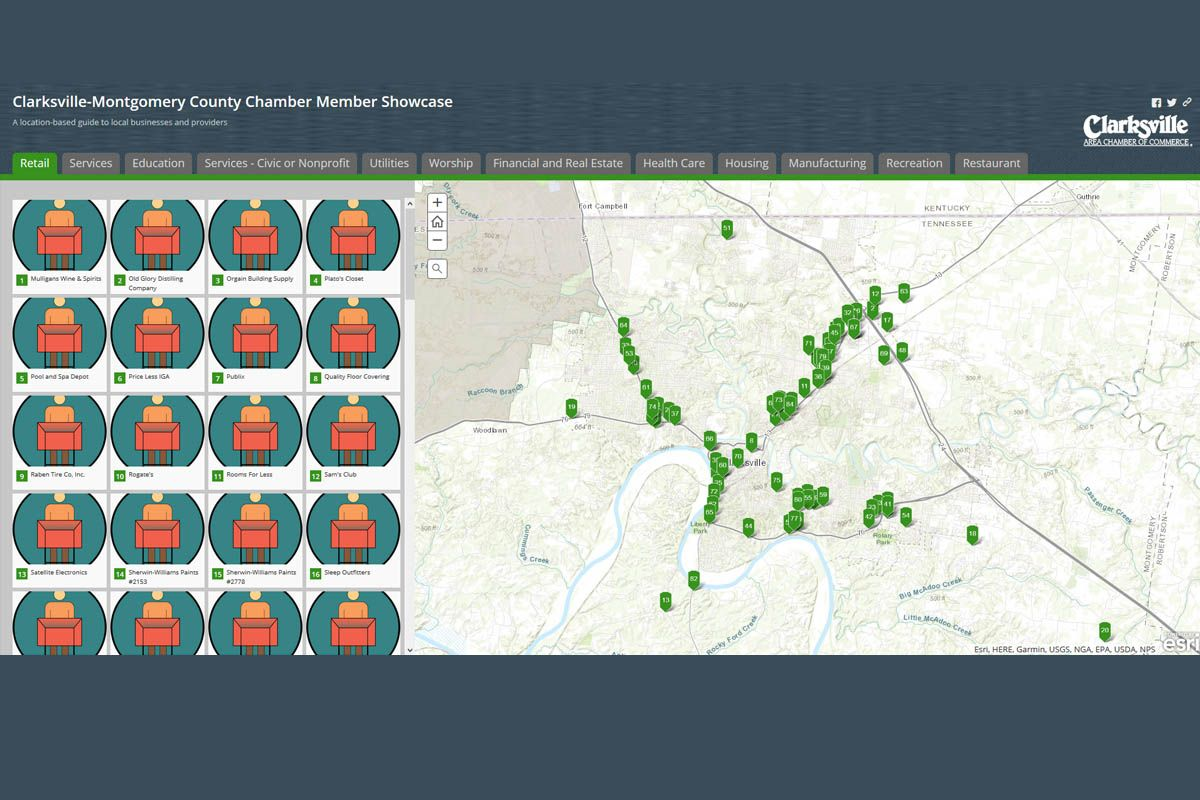 Clarksville Area Chamber of Commerce releases New Mapping