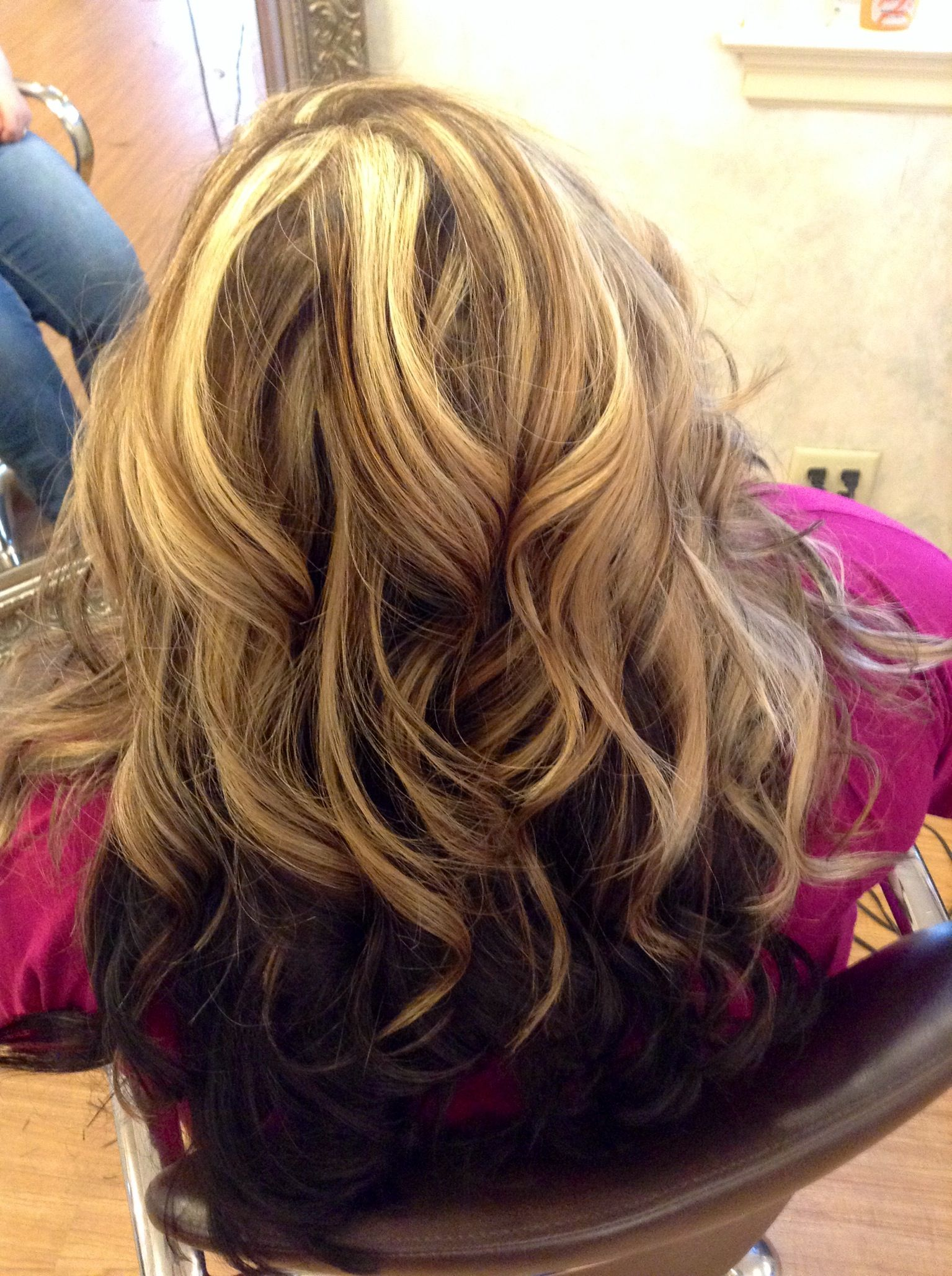 Brown Underneath With Blonde On Top Done By Melissa At Orbit