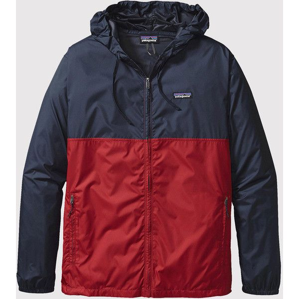 Patagonia Light & Variable Hoody - Classic Red (€91) ❤ liked on Polyvore featuring men's fashion, men's clothing and men's hoodies