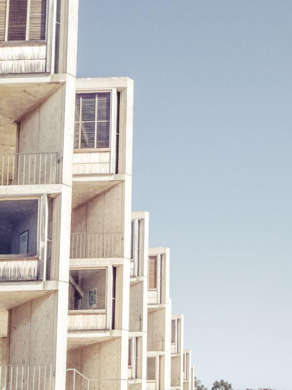 Salk Institute by Luis Kahn photos by Rasmus Hjortshøj  #Design #Photography #Rasmus Hjortshøj