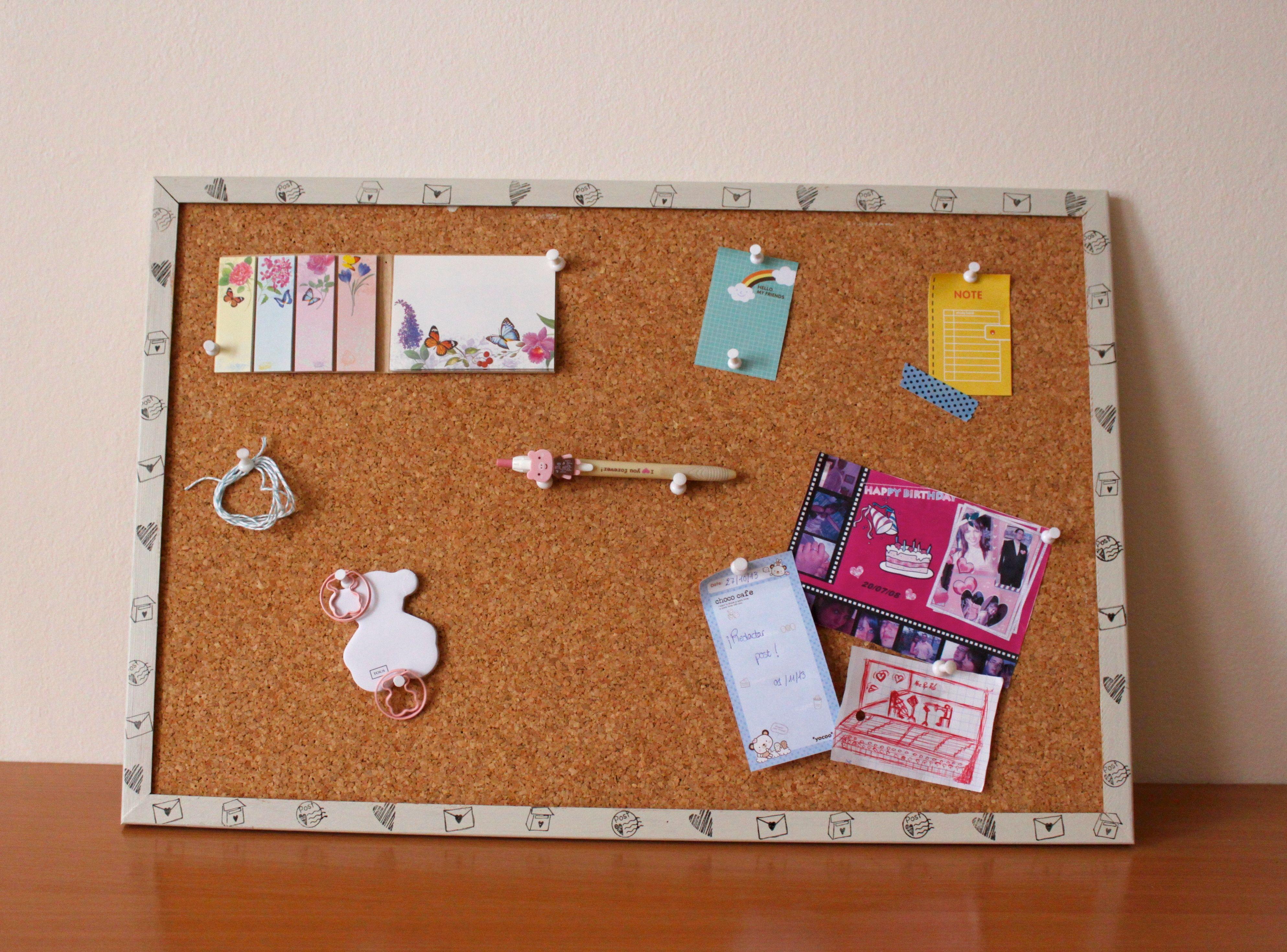 Customize a corkboard / Personalizar un tablero de corcho | DIY ...