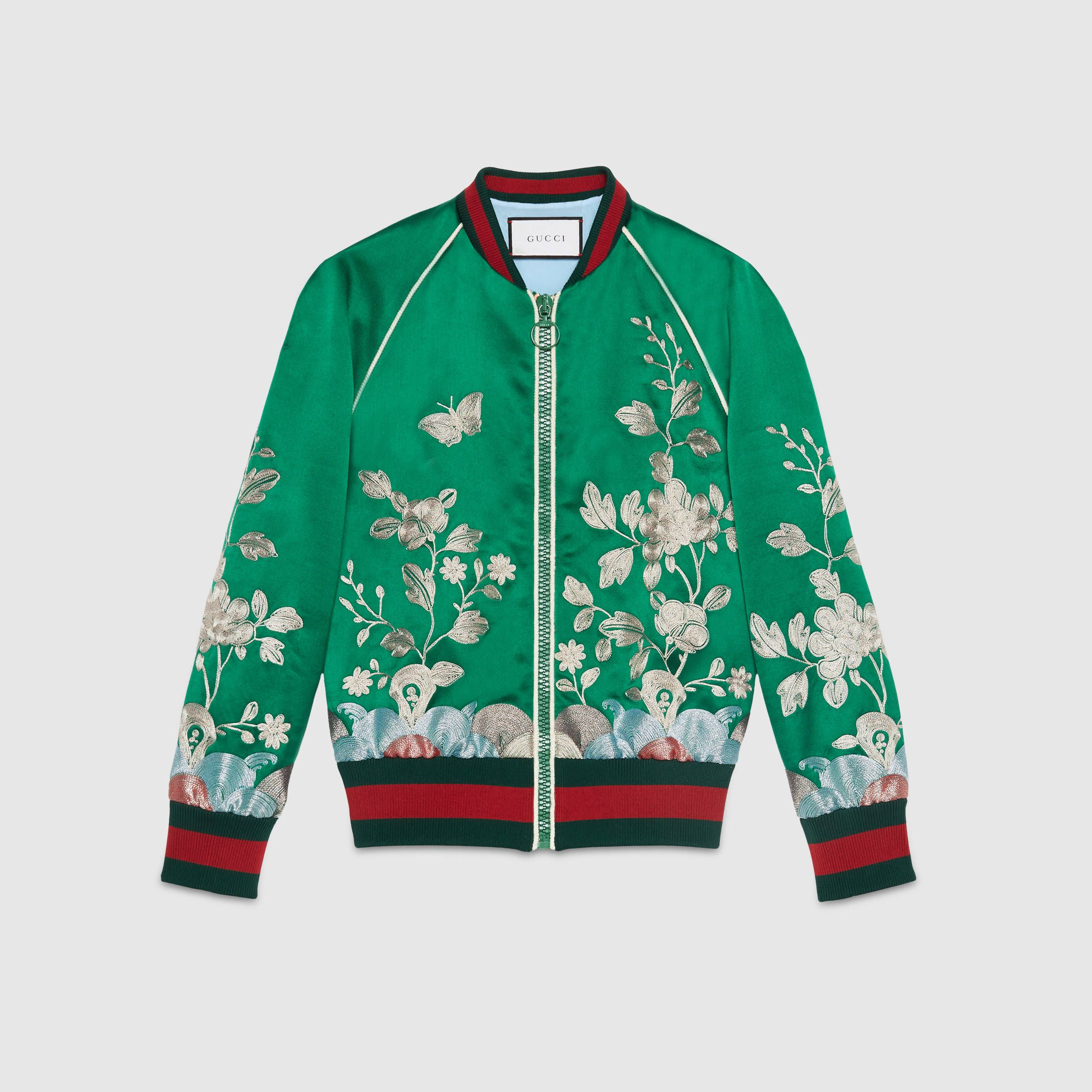 a24dda87a0c7 Gucci. Women Satin Bomber Jacket