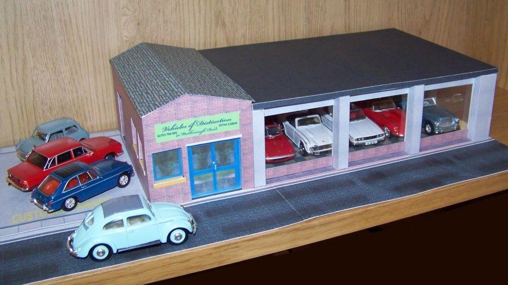 1 43 Car Showroom Scale Model Scenery Car Showroom Showroom Car