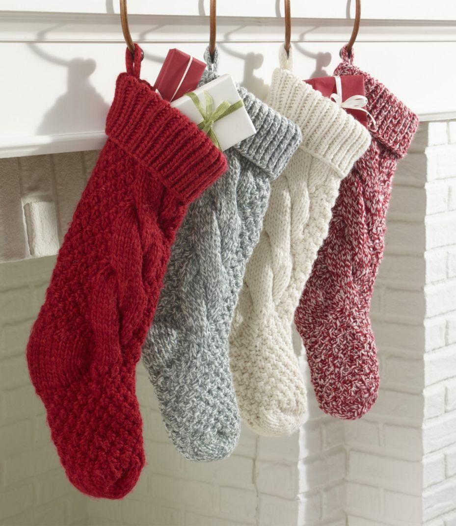 Chunky Knit Christmas Stockings L L Bean Christmas Stockings Christmas Stockings Diy Cute Christmas Stockings