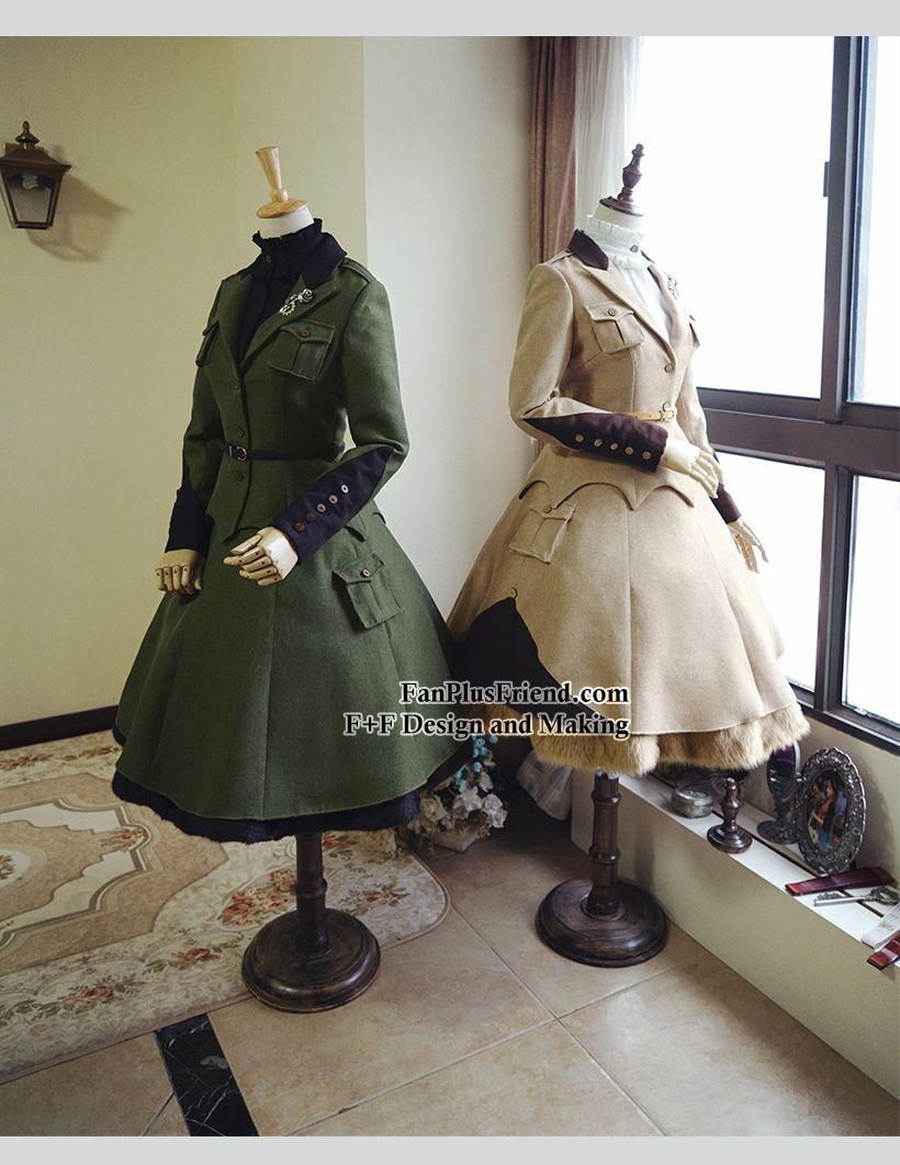 fanplusfriend - Steel Rose, Military Lolita Steampunk Long Sleeves Uniform Jacket*2colors Instant Shipping, $78.00 (http://www.fanplusfriend.com/steel-rose-military-lolita-steampunk-long-sleeves-uniform-jacket-2colors-instant-shipping/?utm_source=2016-1-13