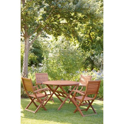 peru 4 seater round garden furniture set with armchairs