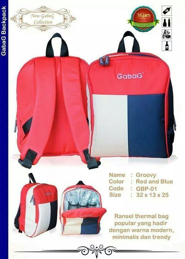 Lunch /& Travel /& 2Packs of Ice Gel Grovy Gabag Baby Cooler Bag Breastfeeding