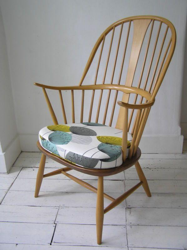 Ercol Blue Label Armchair Chair Sanderson S Dandelion