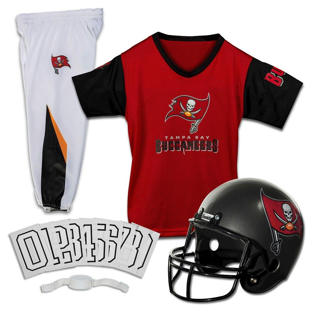 ff49932b Franklin Sports NFL Tampa Bay Buccaneers Deluxe Uniform Set ...