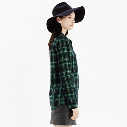Flannel Boyshirt in Barlow Plaid : shirts & tops | Madewell