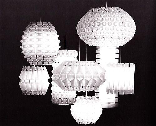 Light Fan Plastic George Nelson Ociates Lantern Lights