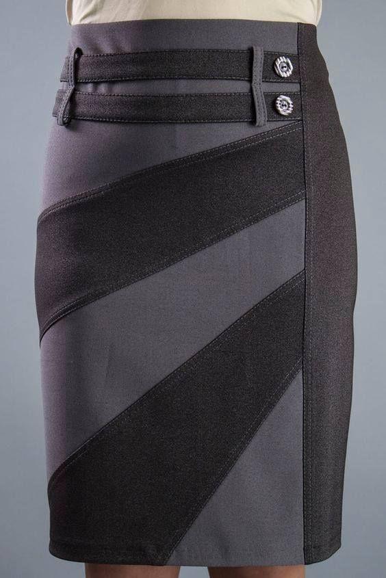 Saia justa | Юбки | Pinterest | Falda, Costura y Faldas tubo