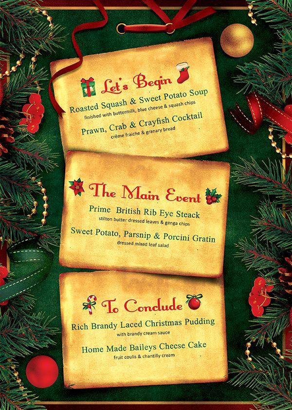 Christmas Eve Menu Template Psd V  Menu Templates Template And