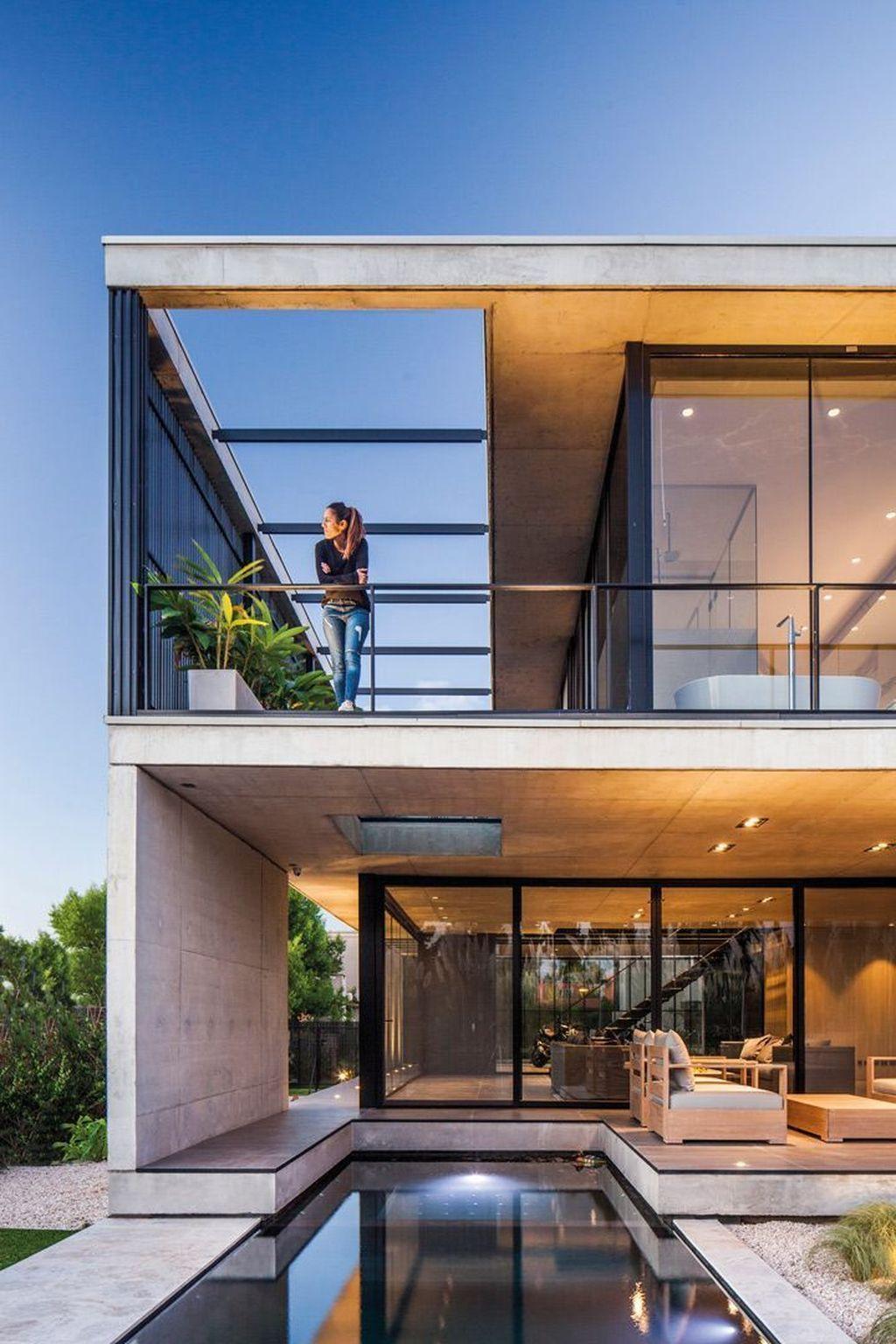30 Gorgeous Modern Concrete Homes Ideas Modern Architecture Design Modern House Exterior Modern Villa Design