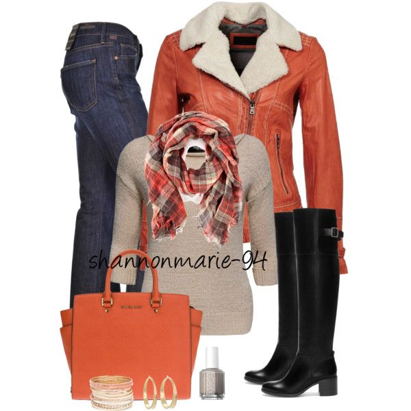 Orange and Oatmeal, created by shannonmarie-94 on Polyvore