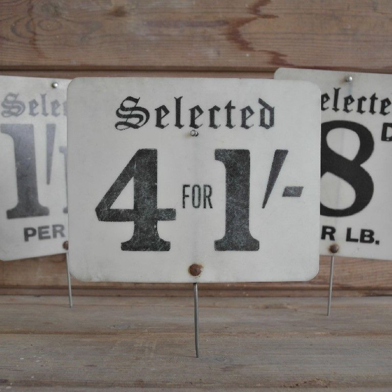 VINTAGE GROCERY SHOP LABEL - SELECTED 4 FOR 1', £10.00