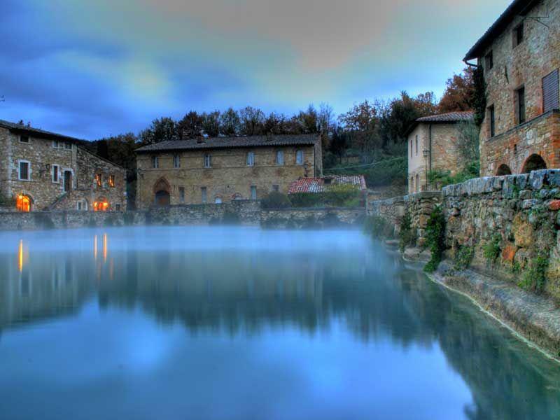 Bagno Vignoni Terme Tuscan Luoghi Italia Toscana
