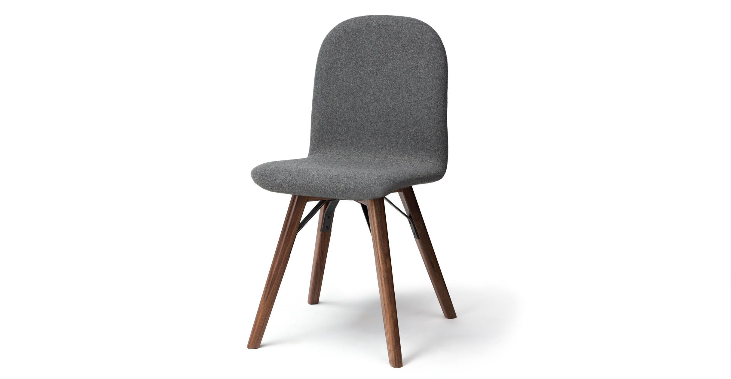 Outstanding 2 X Gray Dining Chair In Walnut Wood Article Mecana Modern Machost Co Dining Chair Design Ideas Machostcouk