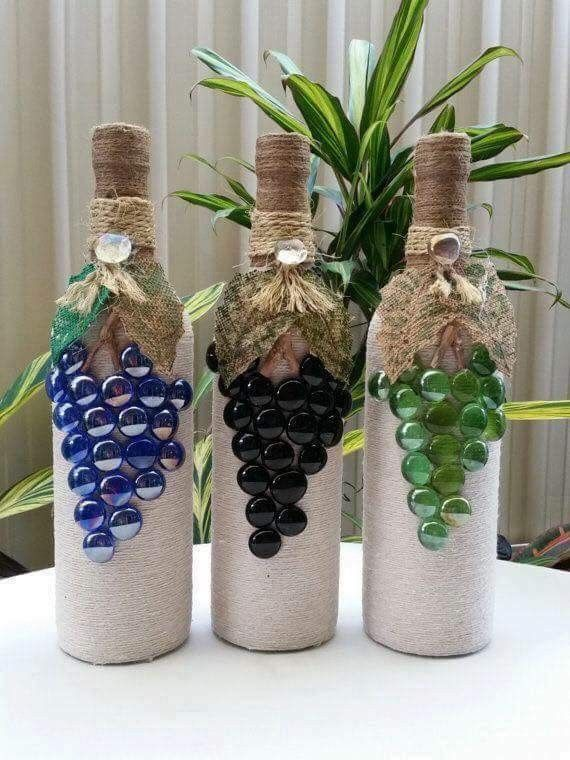 Pin by elizabeth torres on botellas pinterest bottle wine and cork ideas wine bottle crafts wine bottle art glass craft vase diy projects advent gift ideas mason jar wine solutioingenieria Images