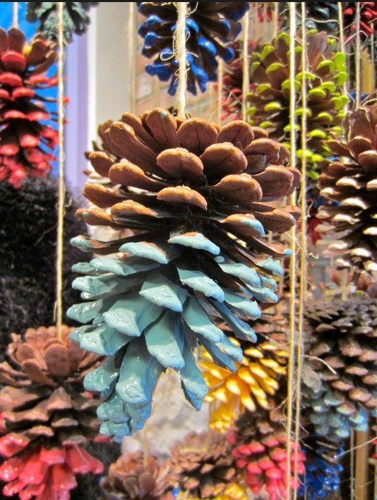 Pine Cone Christmas Crafts Ideas Part - 20: 2013 Christmas Colorful Pinecone Crafts, Christmas Pinecone Crafts Idea,  DIY Christmas Ornaments